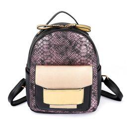 53893656cd81 змеиный рюкзак Скидка Новый змея искусственная кожа женщины рюкзак женская  мода рюкзак дамы сумка высокого качества