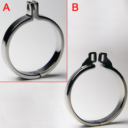 Wholesale Steel Sex Toys Chastity - Stainless Steel Cock Rings Metal Cock Cage Chastity Belt Bondage Gear For Men Penis Ring BDSM Toys Chastity Cage Sex Male Chastity Device