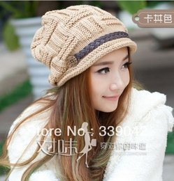 Wholesale Nice Hats For Men - Wholesale-Winter New Arrival Women's Hats Solid Color Lady's Caps Acrylic Warm Woman's Headwear Quality Goods Nice Hat For