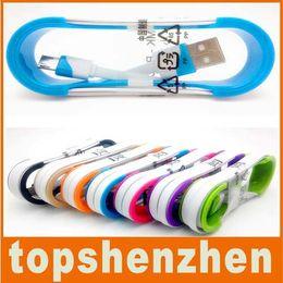 Cable de carga dual USB de color plano Noodle Cable de carga de sincronización de datos 1M 3FT para Samsung S5 S6 Cable de datos USB de HTC M8 M9 Micro USB desde fabricantes
