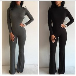 Wholesale Sexy Jumpsuit Prom - New women prom jumpsuit bodysuit boot cut sexy fashion romper club fitness jumpsuits drop shipping