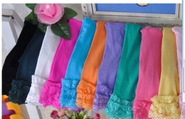 Wholesale Tights For 12 Years - Wholesale-girls velvet short baby girl candy color lace leggings 12 colors for 2-9 years