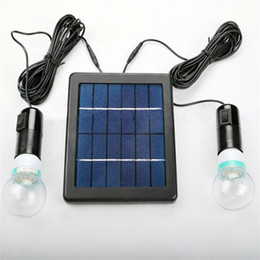 Wholesale Solar System Control - Solar power system with 2 bulb led light for home use camping with night sensor auto control free shipping #SL-40B