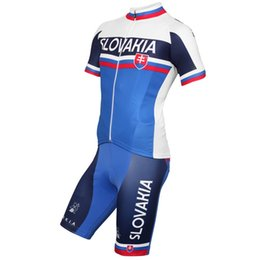 Wholesale Cycling Team Jerseys China - New arrival Slovenia team cycling jersey bicycle clothing bike clothes china short ropa ciclismo blue