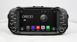 """Wholesale Kia Soul Inches - 4-Core 1024*600 HD 2 din 8"""" Android 4.4 Car DVD Player for Kia Soul 2014 2015 With GPS 3G WIFI Bluetooth IPOD TV Radio RDS USB AUX IN"""