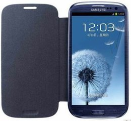 Wholesale Original S3 Covers - Wholesale-For Samsung Galaxy S3 i9300 Case Cover Original Flip Leather Case + Free Shipping