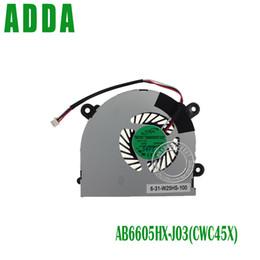 Wholesale Msi Laptop Fan - Wholesale- laptop cpu cooling fan cooler fan for MSI S6000 X600 CLEVO 7872 C4500 FAN AB6505HX-J03 AB6605HX-J03 6-31-W25HS-100 BS5005HS-U89