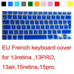 "Wholesale Keyboards Azerty - Wholesale-2016 EU French AZERTY Silicone Keyboard Cover Skin sticker for MacBook Pro air 13"" 15"" 17"" High Quality Free"