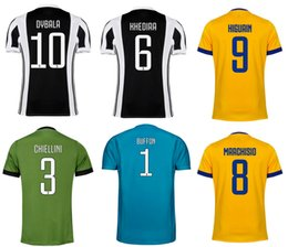 Wholesale Camisetas Futbol Thai Quality - 17 18 JUVS Home Away 3RD Soccer Jerseys DYBALA Costa Higuaín Top Thai Quality Football Shirts Buffon Goalkeeper Camisetas de futbol Maillots