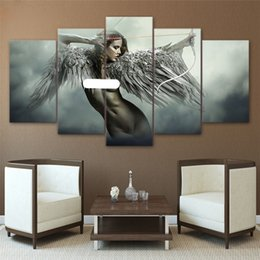 Wholesale Modern Figure Sexy Abstract - Fantasy Sexy Angel ,5 Pieces Home Decor HD Printed Modern Art Painting on Canvas (Unframed Framed)
