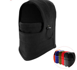 face mask fleece cover Coupons - Thermal Fleece Balaclava Hat Hood Ski Bike Wind Stopper Face Mask Men Neck Warmer Winter Fleece Neck Helmet Cap