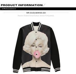 Dropshipping Marilyn Bubble Baseball Jacket UK | Free UK Delivery ...