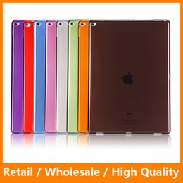 Wholesale Tops Bags Wholesale China - Hot 2016 For iPad Pro 12.9inch Highlight Top Clear Transparent Soft TPU Back Cover Case with PP Bag