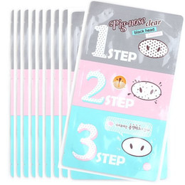 Wholesale Clear Nose Pores - Holika Holika Pig-nose Clear Black Head 3-step Kit,Pig nose mask to clean your nose, Whitening pore cleaner Acne treatment.