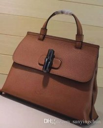 Wholesale Daily Bag - Luxury 370831 Bamboo Daily Leather Top Handle Bag,Adjustable detachable shoulder strap,manual stitching interior zip and smartphone pockets