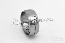 Wholesale Ghosts Band - Skeleton Stainless Steel Rings Gothic Matte Open Cut Out Skull Ghost Band Rings width Size 6.5-12 50 Pcs lot Rs67 Z