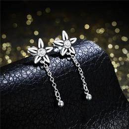 Wholesale Bell Flower Plant - Brand new sterling silver Hanging bell-shaped flower earrings DFMSE624women's 925 silver Dangle Chandelier wedding gemstone earrings factory