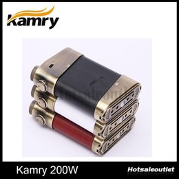Wholesale variable wattage box mods - Original Kamry 200W Box Mod Kamry200 VV VW Variable Voltage & Wattage 0.15 Sub ohm Vape Mods Clearance Sale