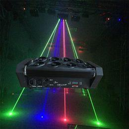 Wholesale Beam Laser Club Lighting - Wholesale- Red green blue light big led beam spider light 8 lens laser Projector performing arts auditorium Club wedding bar spider lights