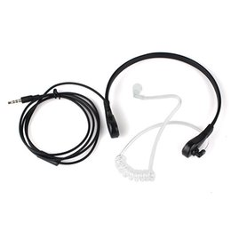 Wholesale Wholesale Air Tube Headset - 10pcs 1 Pin 3.5mm Throat MIC Headset Covert Air Tube Earpiece for iphone Samsung HTC LG MOTOROLA Mobile Phones C0169A Alishow