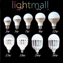 Wholesale E27 18w Globe Lamp Led - E27 Led Lamp 3W 5W 7W 9W 12W 15W 18W 220V 110V E27 Bulbs Light SMD 5730 B22 super bright Led Spotlight Lamps Warm   Cool White Led Bulb hot