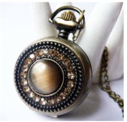 Wholesale Small Camera Necklaces - PS515 WHolesale New Arrive Elegant Small Size Pocket Watch Necklace For Xmas Gift necklace camera necklace and earring set