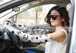 Wholesale Thin Arm Sleeves - Wholesale-Summer sunscreen gloves anti-uv summer long design women's 100% oversleeps cotton lace thin arm sleeve