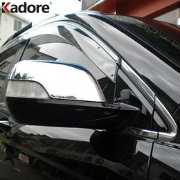 Wholesale Honda Fit Chrome - For Honda CRV CR-V 2007 2008 2009 2010 2011ABS Chrome Car Mirror Cover Rearview Back up Mirrors cover Trim only fit car with turn light 2pcs