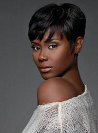 Pelucas de pelucas de las mujeres del cortocircuito del color negro de la nueva manera del pelo humano del 100% Peluca llena desde fabricantes
