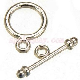 Wholesale Accessories Jewelry Craft - 200pcs new diy fashion craft accessories metal OT vintage silver round small toggles hooks jewelry clasps for bracelets 13*10mm