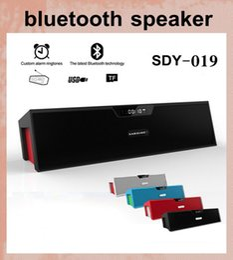 amplificador de micrófono portátil Rebajas SDY-019 HIFI Altavoz Bluetooth portátil 10w Radio FM Inalámbrico USb Amplificador estéreo mini caja de altavoz con micrófono dhl envío gratis MIS065