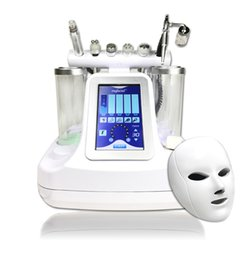 Wholesale Skin Spas - 5,6,7 in 1 bio rf cold hammer hydro microdermabrasion water hydra dermabrasion spa facial skin pore cleaning machine
