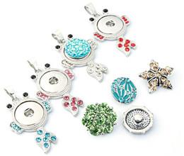 Wholesale Wholesale Tadpoles - mix colors 10pcs lot New Fashion DIY Snaps Jewelry Crystal tadpole Snaps Button Pendant Necklace Wholesales