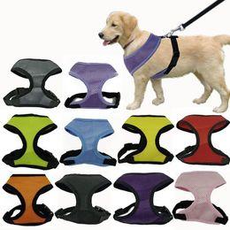 Wholesale Cheap Nylon Mesh - Fashion Dog Harness Soft Air Nylon Mesh Pet Harness Cheap Dog Cloth Pet Dog Cat Vest Harness Dog Apparel Small 10 Colors 5 Size