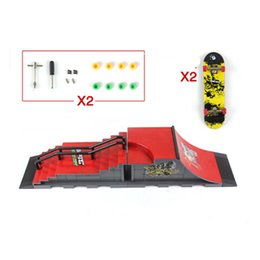 Wholesale Ultimate Abs - Wholesale-2016 NEW Style Skate Park Ramp Parts for Fingerboard Finger Board Ultimate Parks, ABS Plastic Fingerboard Site Kid's Toy