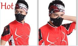 Wholesale Filter Covers - New Top Anti-Pollution City Cycling Masks Mouth-Muffle Dust Mask Dustproof Bicycle Sport Ski Motorcycle Mask Face Cover With Filter TK0964