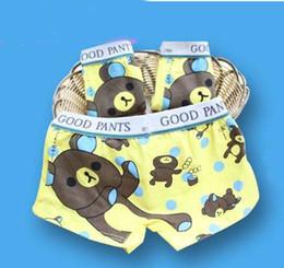 Wholesale Monkey Boxers - Mens Underwear Hot Boys Underwear Monkey Printing Lycra Cotton Kids Underwea