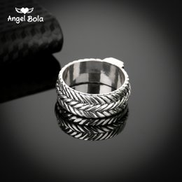 Wholesale Party Stores - New Store Ancient Silver Buddha Ring Personality Wide Chain Knitting Ring Exagerrated Fashion Jewelry Free Shipping