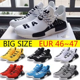 Wholesale R1 Race - Big Size Cheap NMD runner R1 boost high quality human race running shoes NMDS Runner Pk Ultra Boost sneaker sports running shoes size 36-47