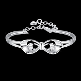 Wholesale Korean Style Bangles For Women - 2016 Hot 925 silver plated charm bangles for women classic charm jewelry romantic Valentine's Day gift elegant Korean style free shipping