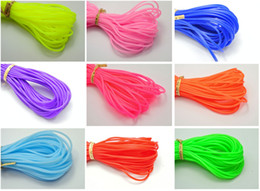 Wholesale Wired Cover - 10 Meter 2mm Soft Hollow Rubber Tubing Jewelry Cord Cover Memory Wire