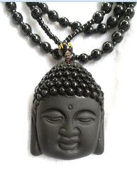 Wholesale Jade Buddha Pendants For Men - Natural Obsidian Necklace Fashion Black Ruyi Buddha Pendant For Women Men Vintage Fine Jade Jewelry Ornaments C1