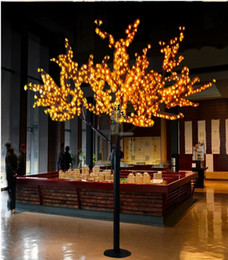 Ha portato gli alberi artificiali online-2M 6.5ft altezza LED artificiale Cherry Blossom Trees Christmas Light LED lampadine 110 / 220VAC impermeabile decorazione giardino fatato