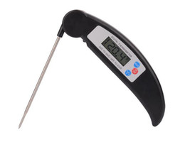 Wholesale fold cooking - Hot Popular Folding Kitchen Cooking Food Meat Probe Digital Thermometer Electronic BBQ Gas Oven Thermometer Cooking grill thermometer