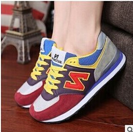 Wholesale Nude Couples - DORP SHIPPING Unisex women men's N letter Sport Shoes Sneakers Running Shoes n Couple Shoes Men Women Sneakers running shoes size eur 36-44