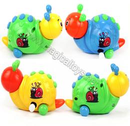 brinquedos de caracol Desconto Atacado-Frete grátis Wind up toys clockwork brinquedos engraçado brinquedo do bebê Fun caracol caracol bonito dos desenhos animados em uma cadeia de brinquedos