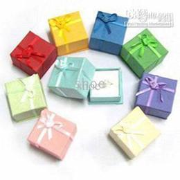 Wholesale Christmas Picks Wholesale - Epack 48pcs jewelry box gift boxes ring box beads box size 4x4x3 cm pick 10 colors