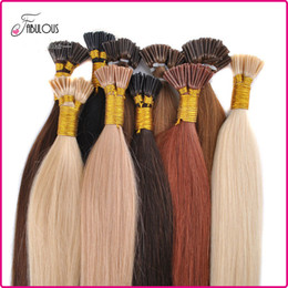 "Wholesale Keratin I Tip Hair Extensions - Hot Sell I Tip Hair Extensions 18-24"" 100Strands lot Keratin Thick Tip Hair Brazilian Virgin Hair Extension Remy Human Hair Big Promtion"