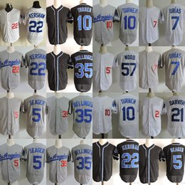 Wholesale Clayton Kershaw Jersey - 21 Yu Darvish Jerseys 22 Clayton Kershaw 57 Alex Wood Cody Bellinger Corey Seager Justin Turner Baseball Jersey Stitched Jersey