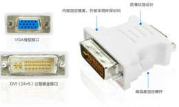 Wholesale 24 Pin Adapter - VGA Female 15 Pin to DVI-D 24+5 Pin Male F-M Digital Video Adapter Converter